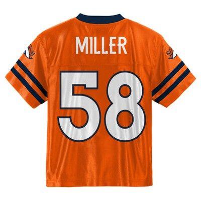 Athletic Jerseys Denver Broncos Team Color 18 M, Toddler Boy's, Multicolored