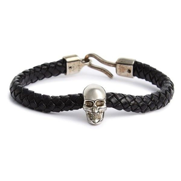 Men S Alexander Mcqueen Leather Bracelet 390 Aud Liked On Polyvore Featuring Fashion Jewelry Bracelets Me