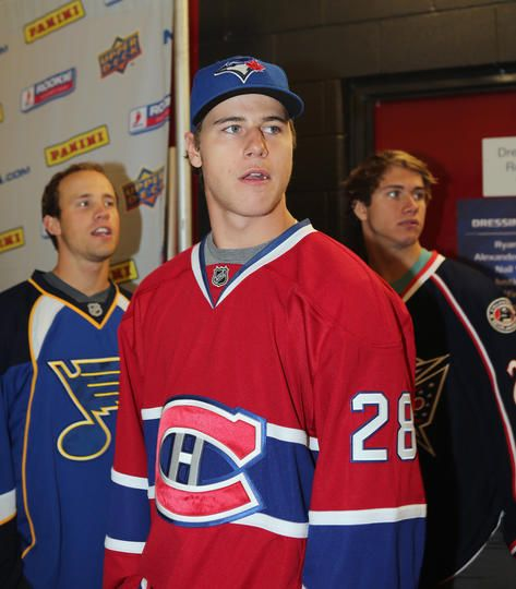Nathan Beaulieu of the Canadiens at the Rookie Showcase 2012.