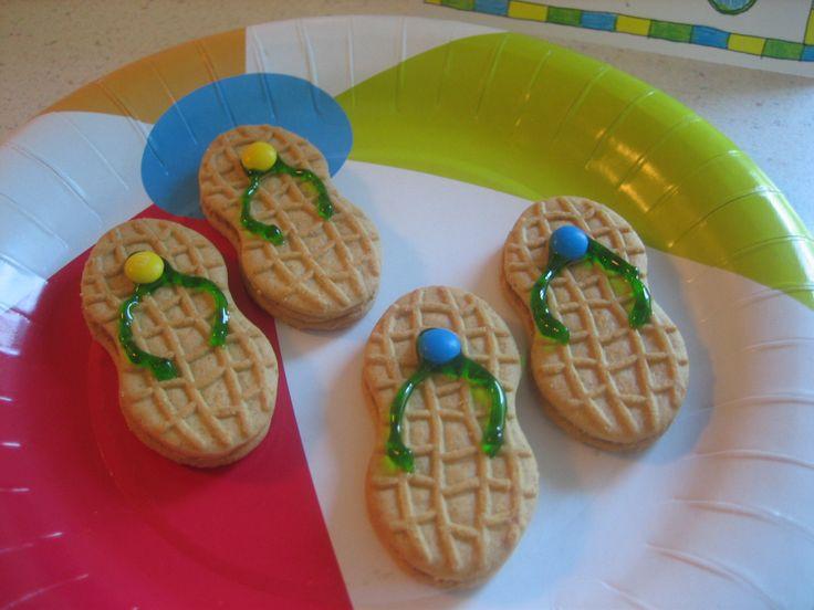 Flip flop nutter butter cookies