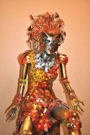 Aurora metal sculpture by Marc Spurgin