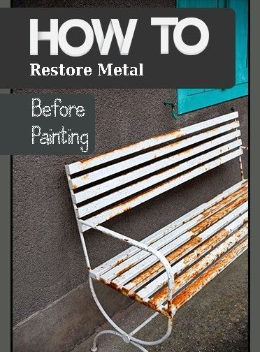 ready to repaint your metal furniture but not sure how home rh pinterest com