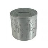 Sparbössa rund för dopgravyr h 7 cm