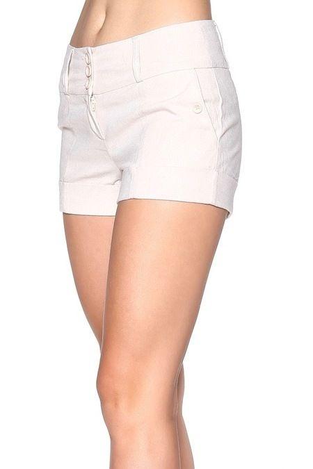 Women's Beige Shorts.