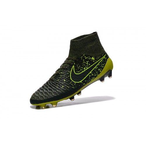 Nike Magista - Sconto Nike Magista Obra FG Nero Verde Scarpe Da Calcio