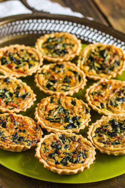 food geek: Мини-киш со шпинатом, сыром чеддер и беконом