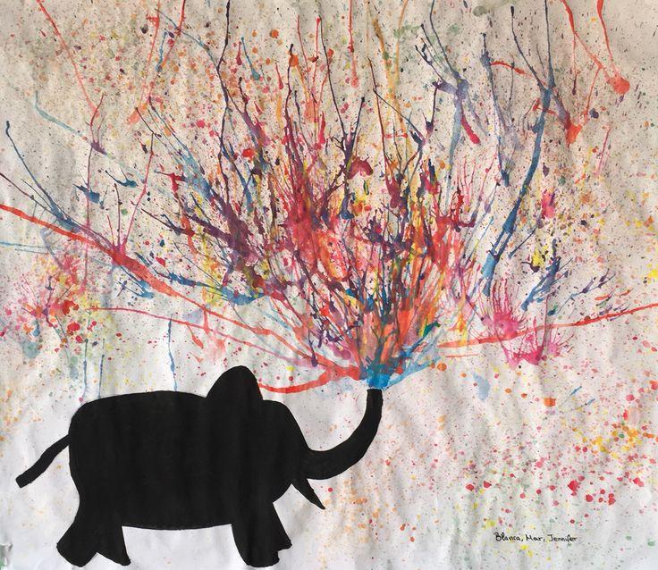 Pintura soplada. | Manualidades con pintura, Pinturas ...