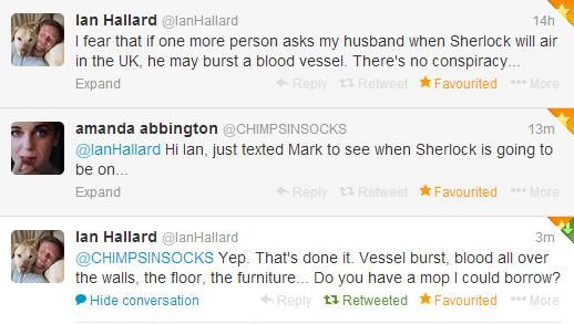 Amanda Abbington and Ian Hallard in twitter (aka perfection).