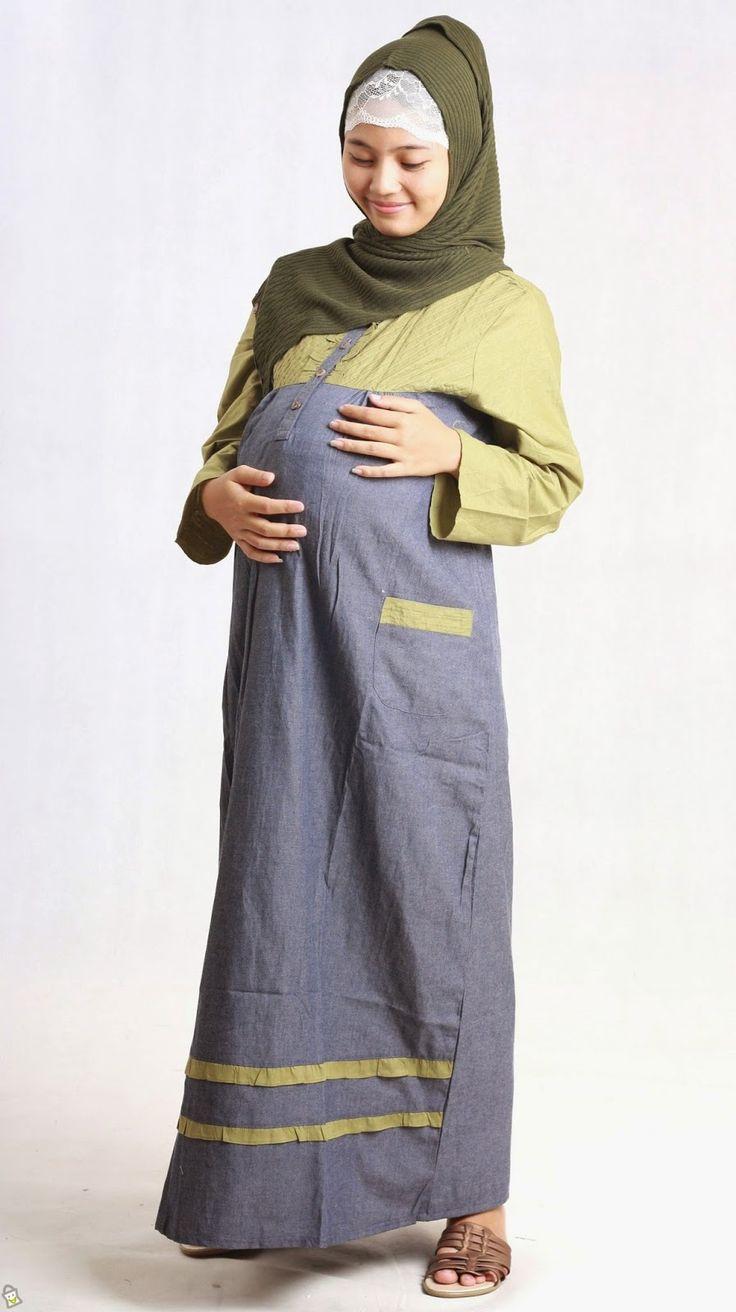 Contoh Model Baju Muslim Gamis Untuk Ibu Hamil Contoh Busana