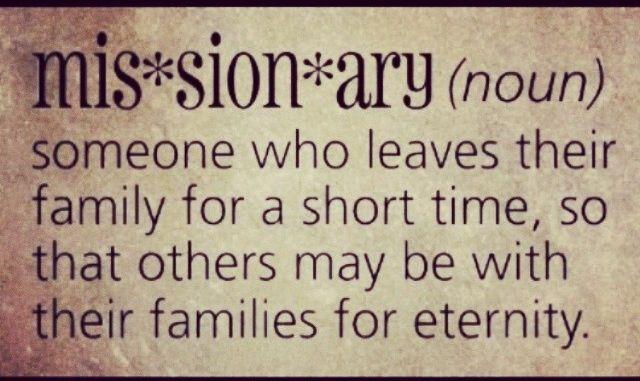 I love missionaries!