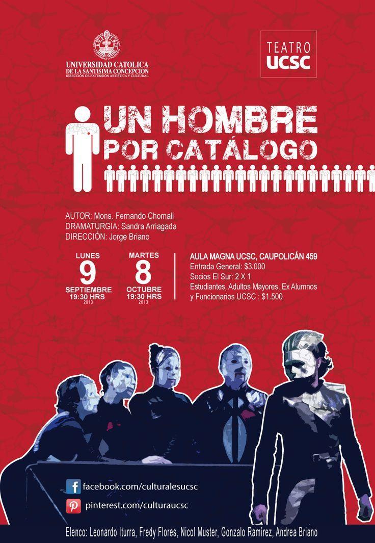 """Afiche Obra de Teatro """"Un Hombre Por Catálogo"""""""