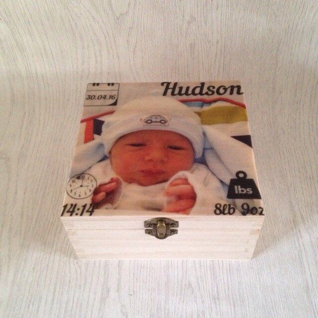 A personal favourite from my Etsy shop https://www.etsy.com/uk/listing/294159781/baby-keepsake-box-christening-gift-new
