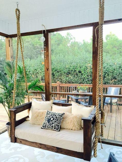 diy outdoors hang relaxing porch swing in 2019 farmhouse diy rh pinterest com