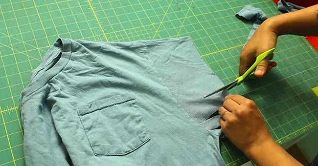 Creative Ideas - DIY No Sew Hobo Bag from Old T-shirt #DIY #craft #recycling #repurpose #t-shirt