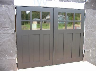 Hand Made Custom Swing Carriage House Garage Doors And