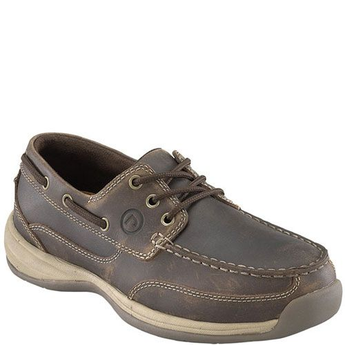 RK6736 Rockport Works Men's Tie Boat Safety Shoes - Brown
