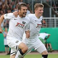 Preußen Münster hat seinem Ruf als Pokalschreck alle Ehre gemacht. Der Fußball-Drittligist zog durch ein verdientes 1:0 (1:0) gegen den FC St. Pauli in die zweite Pokalrunde ein