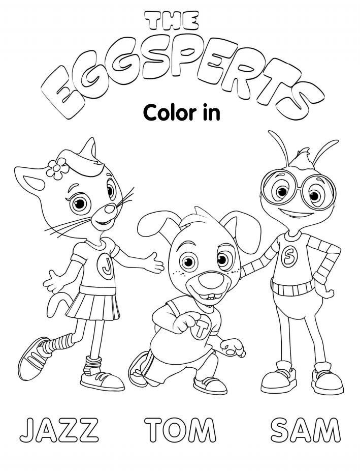 Download your color in printable of The Eggsperts