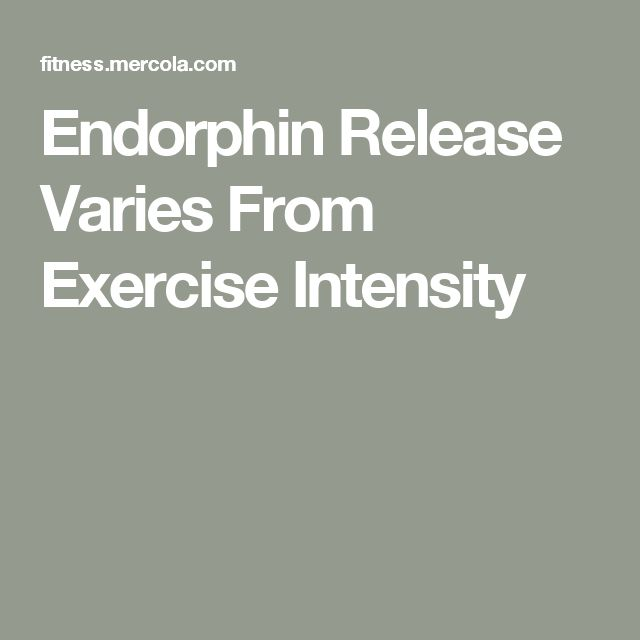 Endorphin Release Varies From Exercise Intensity