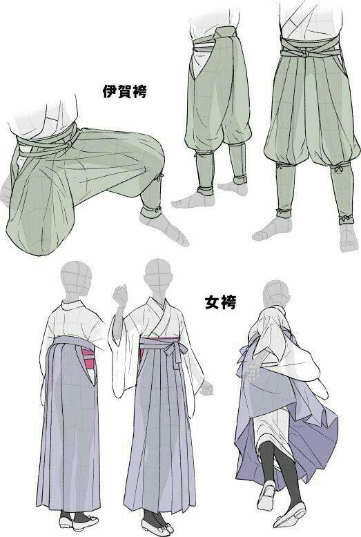 Kimono, text, men, women, male, female, clothes; How to Draw Manga/Anime