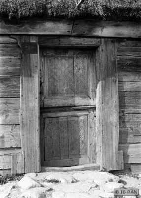 Nickelshagen, Hölzernes Bauernhaus - Eingangstür