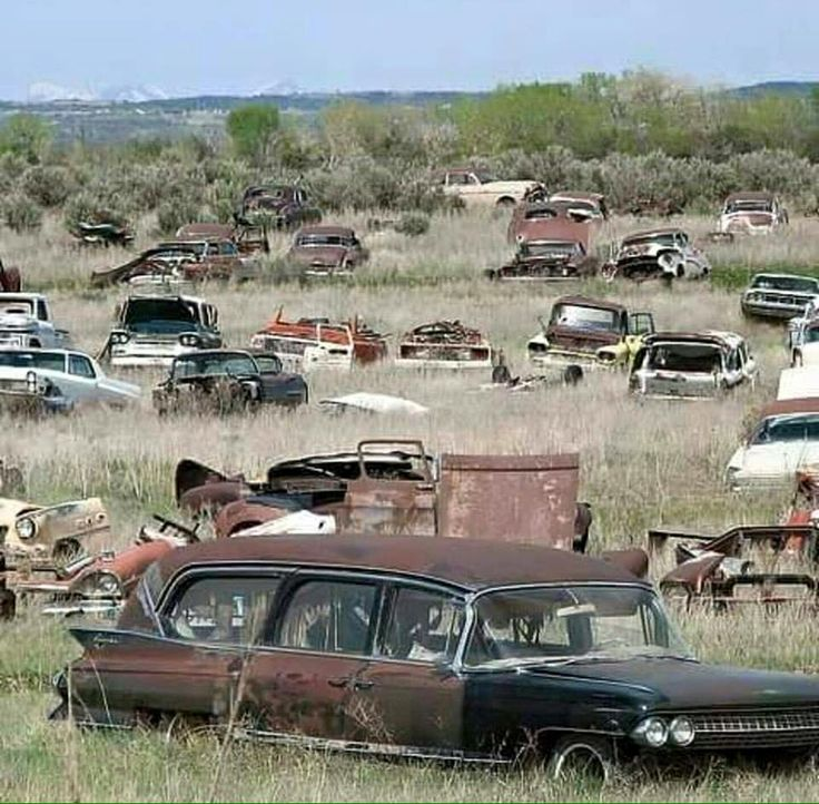 42 best Junkyards images on Pinterest | Abandoned cars, Abandoned ...
