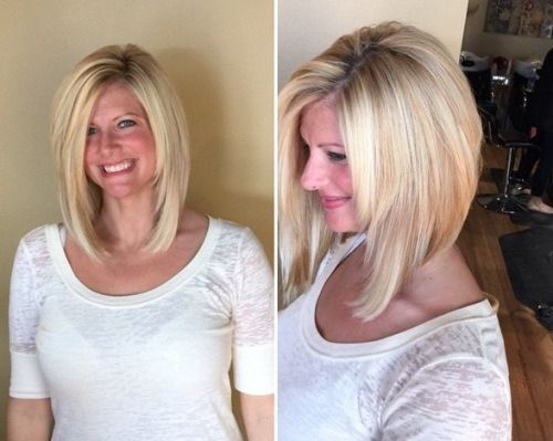 Inverted Bob Hairstyles with Long Cut With Layered Face Framing