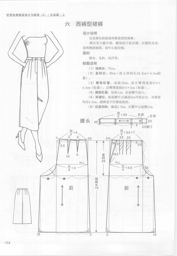 sewing- patterns of pants from asian books