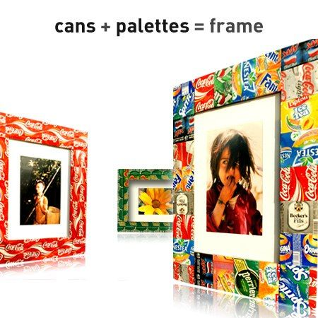 Photo frame in wood metals accessories  with Wood Photography Frame Cans Aluminium