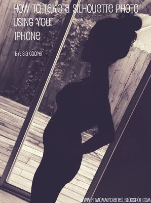 How to take a maternity silhouette using your iPhone!