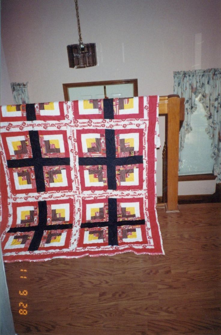 Kansas City Chiefs Full Sized Quilt Nfl Quilts