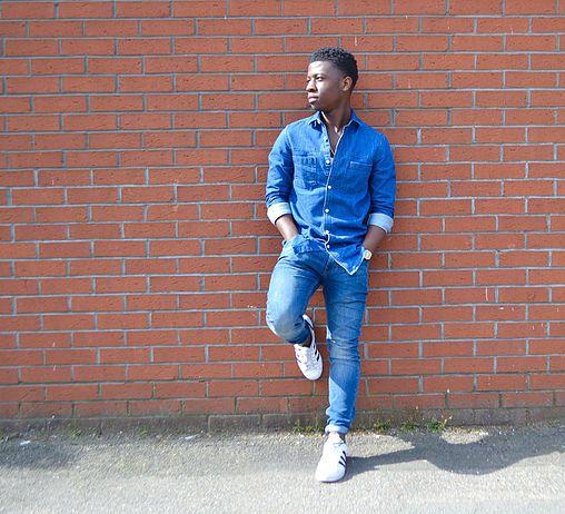Double Denim Superstars Men's style Men's fashion