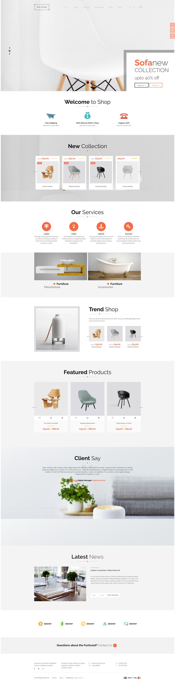 See.Shop is a #modern, #clean and #professional #WordPress #Woocommerce #Theme, It is fully responsive, it looks stunning on all types of screens and devices. It is super for fashion shop, digital shop, games shop, food shop, devices shop, household appliances shop or any other categories. #website