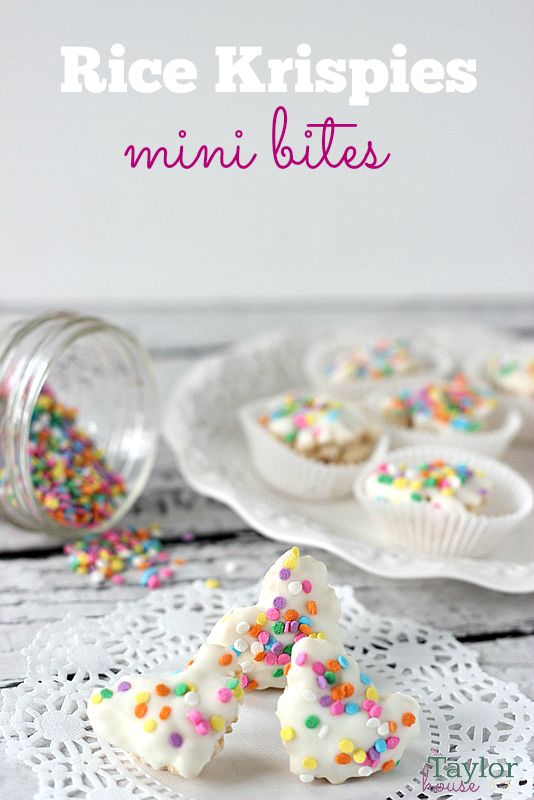 Rice Krispies mini bites - I would eat the entire thing up in about 20 seconds - soooo easy to pop in your mouth.