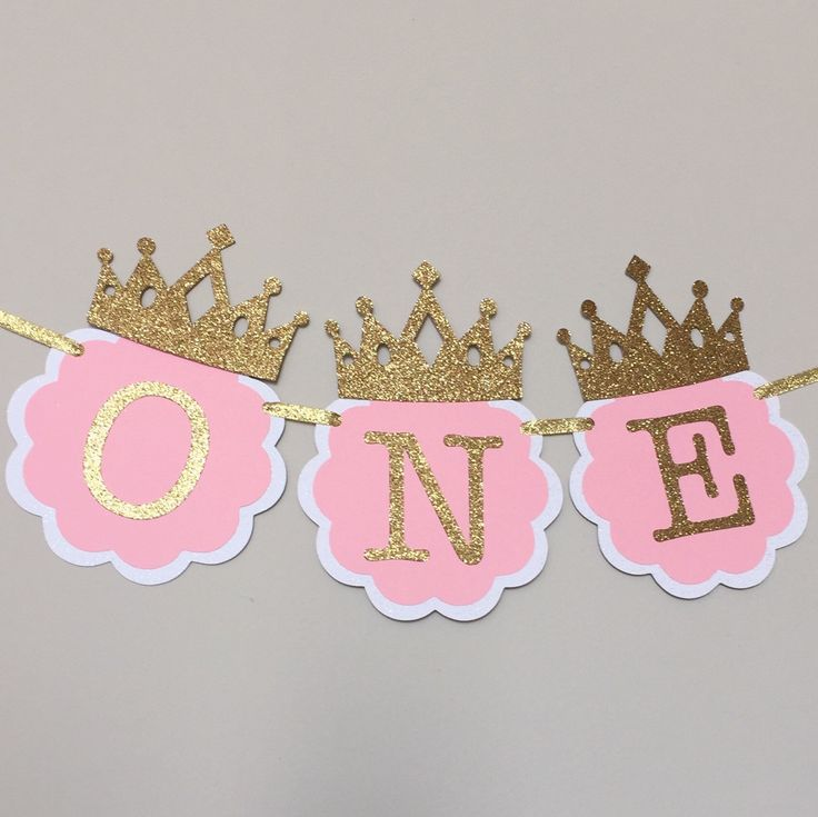 Pink and Gold High Chair Banner. First Birthday Decorations. ONE High Chair Banner. Pink and Gold Party. Little Princess, Smash Cake banner by TinyEnchantments on Etsy https://www.etsy.com/listing/245411659/pink-and-gold-high-chair-banner-first