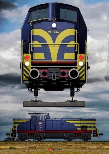 Privatbahn-Poster-XXL-MaK-Lok-Westfaelische-Landes-Eisenbahn-WLE-Fotodruck