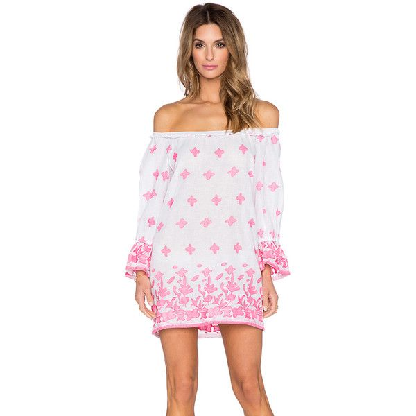 Miguelina Josie Cover Up Swimwear ($231) ❤ liked on Polyvore featuring swimwear, cover-ups, swim, cover up swimwear, cotton cover up, crochet beach cover-ups, swim cover ups and swimming cover ups