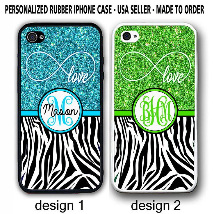 LOVE INFINITY BLUE GREEN BLACK ZEBRA PRINT MONOGRAM CASE FOR IPHONE 7+ 6S SE SE  #UnbrandedGeneric
