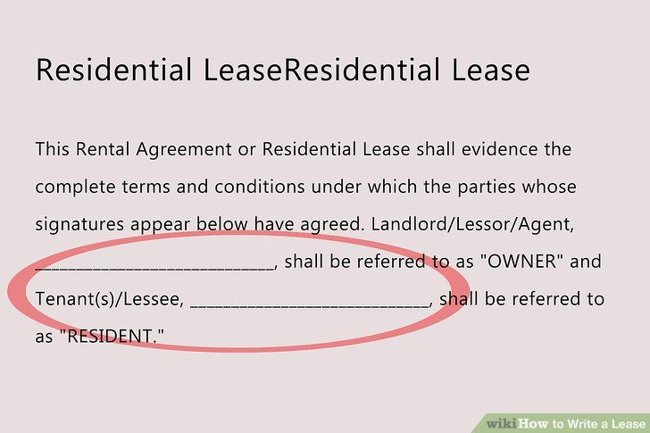 How To Write A Rent Lease - Vision professional
