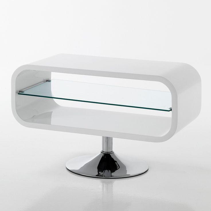 Mobile+porta+TV+Sibilla+in+legno+MDF+bianco+lucido+80+cm