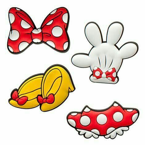 Molde de minnie mouse roja