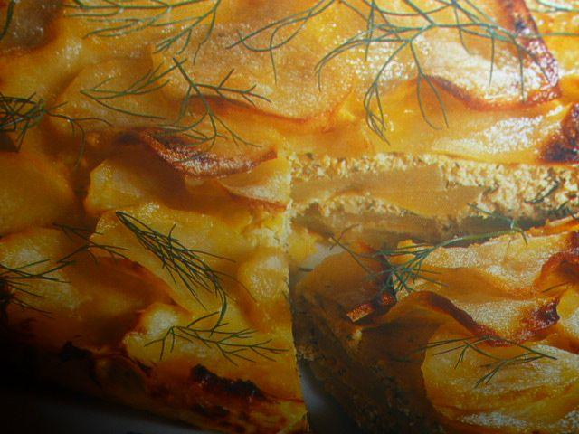 millefoglie di patate - con crema di trota