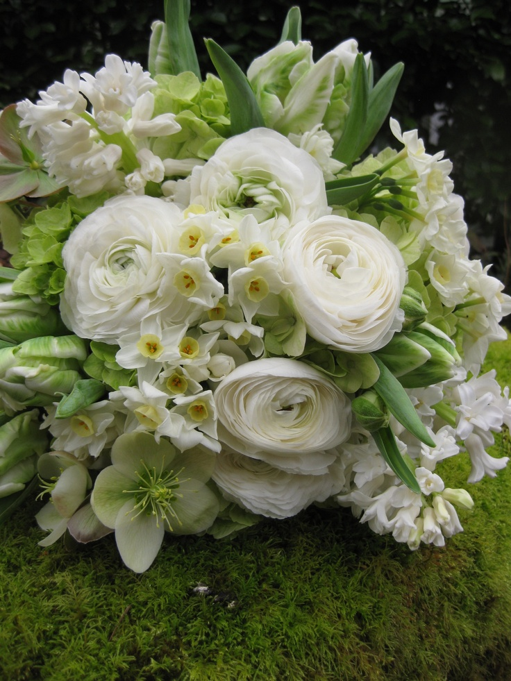 White Wedding Flowers March : March wedding bouquet by garden party flowers seattle