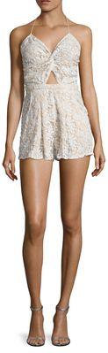 Skinny Dippers Lace Romper