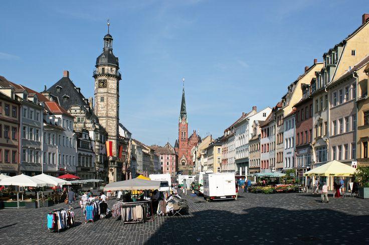 Altenburg/Thüringen, Markt mit Rathaus