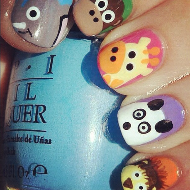 Animal Nail Art: 9 Best Images About Cute Animal Nail Art On Pinterest