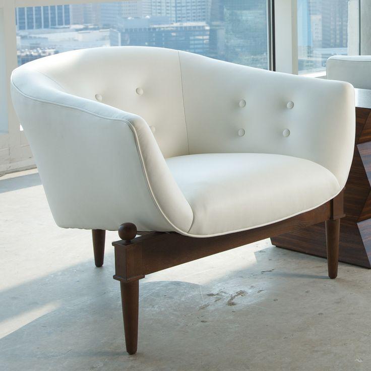 A Sleek Club Chair On A Triangular Base, Global Viewsu0027 Mimi Brings Mid
