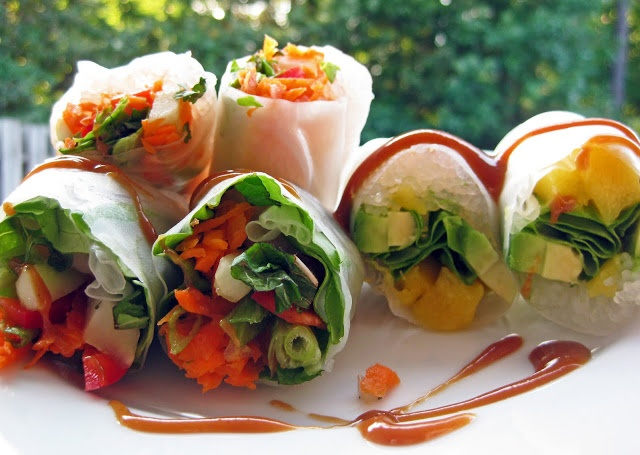 Vietnamese-Style Summer Rolls With Peanut Sauce Recipes — Dishmaps