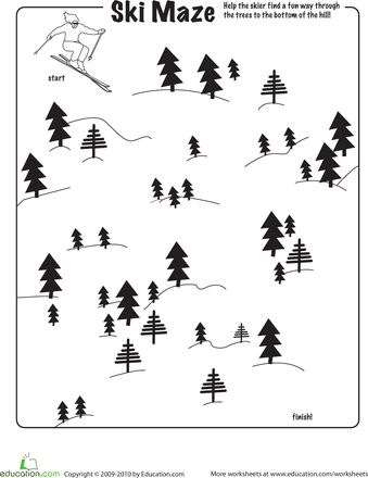 Worksheets: Ski Maze  done 10/12