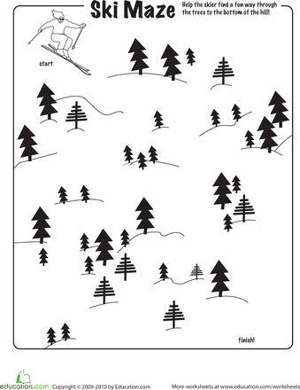 Worksheets: Ski Maze  done 10/12